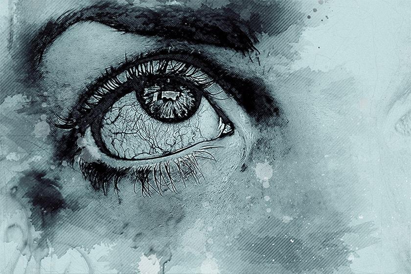 Nie strasz przekrwionymi oczami